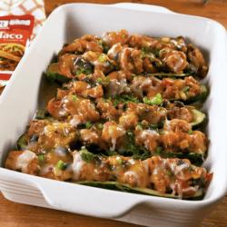 Shrimp Zucchini Burrito Boats
