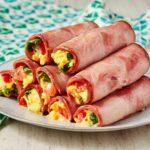 Ham & Cheese Breakfast Roll-Ups