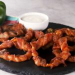 Bacon Wrapped Bell Pepper Rings