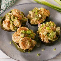 Spicy Shrimp Stuffed Avocados