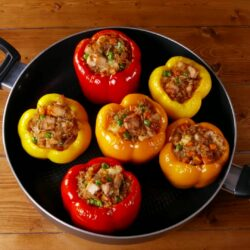 Fried Rice Stuffed Peppers