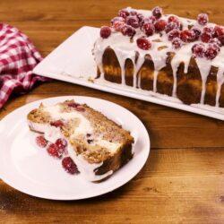 Cranberry Cheesecake Banana Bread