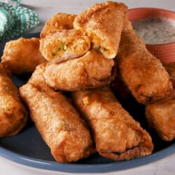 Buffalo Chicken Egg Rolls