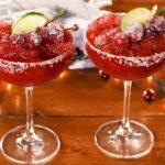 Frozen Cranberry Margaritas