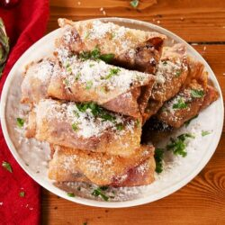 Cranberry Brie Egg Rolls