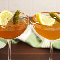 Pickle Juice Whiskey Sours