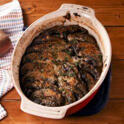 Scalloped Portobello Mushrooms