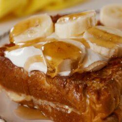 Banana Pudding Stuffed French Toast