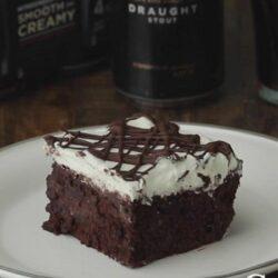 Boozy Chocolate Poke Cake