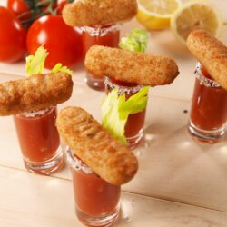 Mozz Stick Bloody Mary Shooters