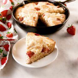 Strawberry Cheesecake Skillet Cake