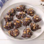 Salted Caramel Walnut Chocolate Clusters