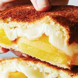 Peaches & Brie Grilled Cheese