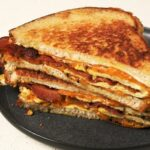 Bacon & Cheese Bread Omelet
