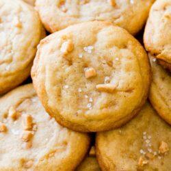 Salted Vanilla Toffee Cookies
