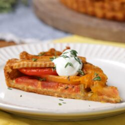 Black Pepper And Cheddar-Crusted Tomato Tart