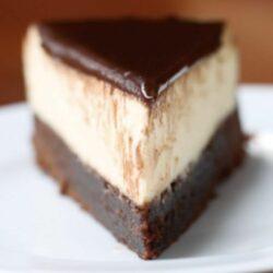 Chocolate Fudge 'Box' Brownie Cheesecake