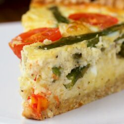 Easy Cast-Iron Cheesy Asparagus Quiche