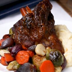 Elegant Braised Lamb Shank Dinner