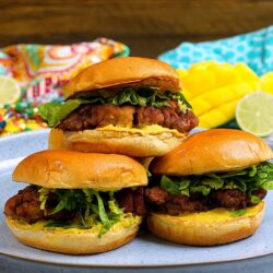 Creamy Coronation Fried Chicken Burger