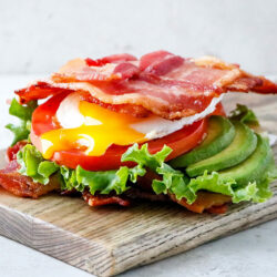 Bacon Weave Breakfast Sandwich