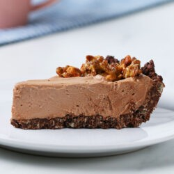 Cocoa Crispy Rice Chocolate Hazelnut Mousse Pie
