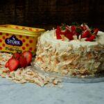 Strawberry & Coconut Sponge Cake