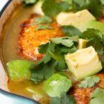 Salsa-Braised Chicken With Avocado