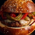 Sausage and Pepper Burger