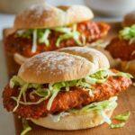 Baked Nashville Honey Hot Chicken Sandwiches