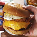 Creamy Chilaquiles Burger