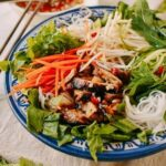 Vietnamese Rice Noodle Salad with Chicken