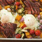 Sheet Tray Steak & Eggs